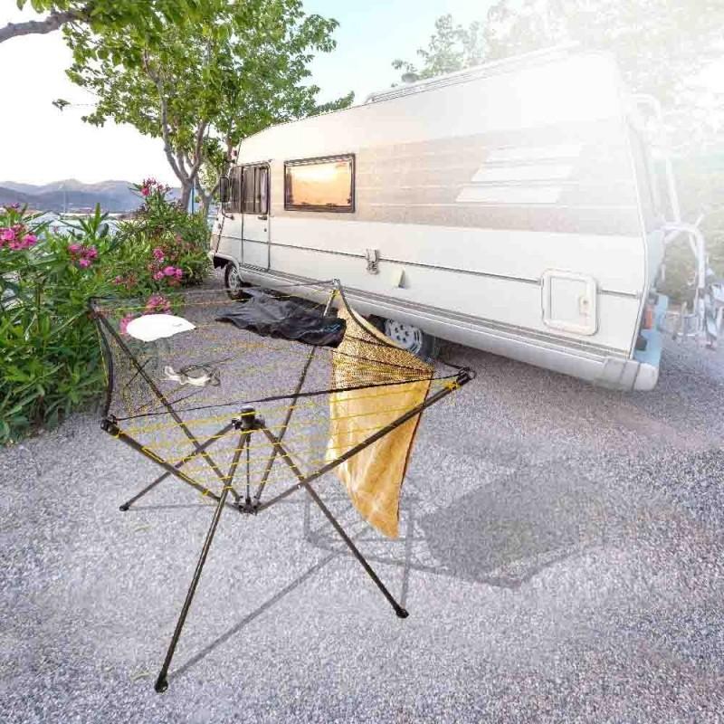 Étendoir à linge parapluie intérieur et camping (2)