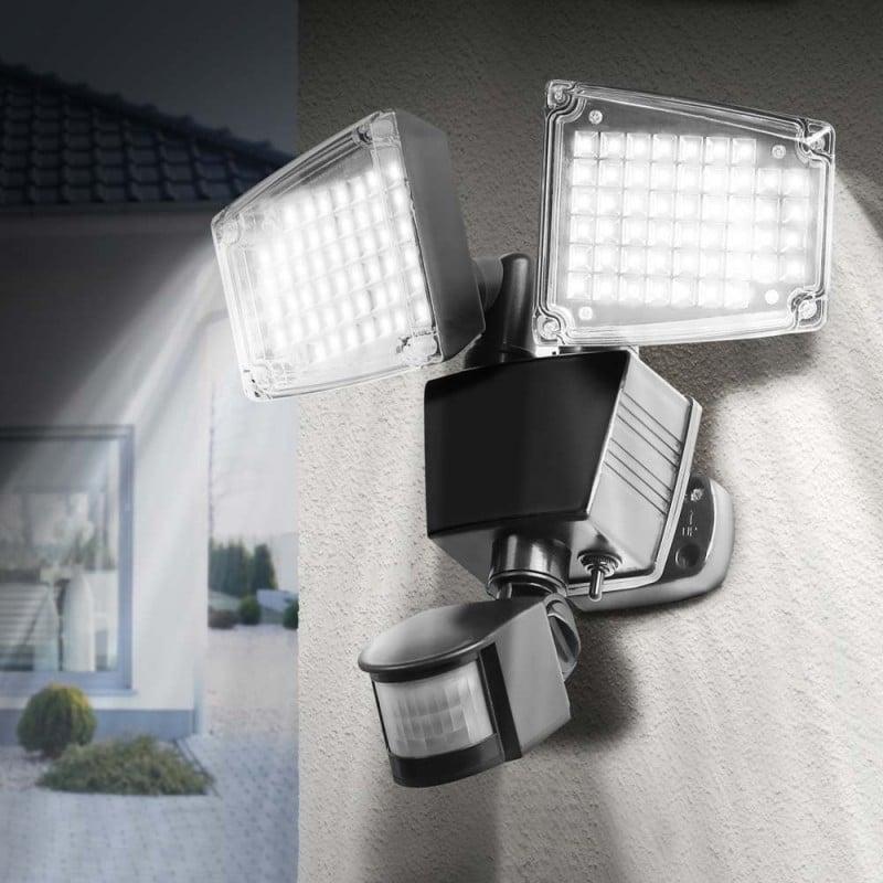 Double projecteur LED mural avec détecteur de mouvements (1)