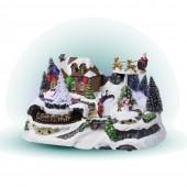 Village de Noël Lumineux Traineau du Père Noël