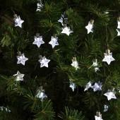 """Guirlande solaire à LED forme """"étoiles"""""""