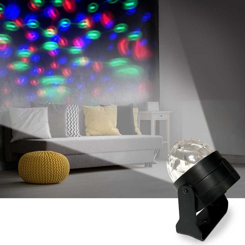 Projecteur boule à facettes effet disco (1)