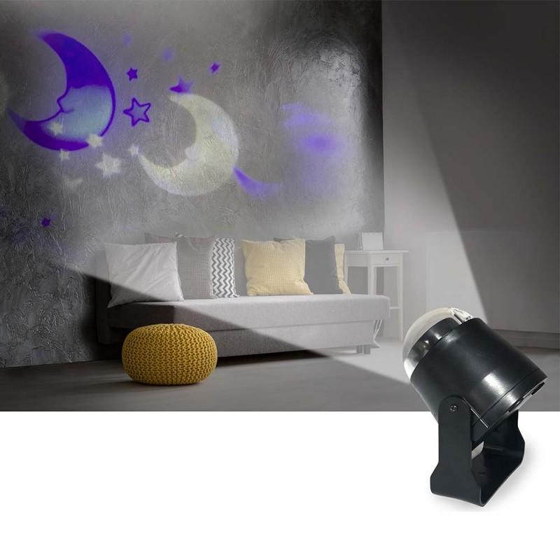 Projecteur veilleuse - lune et étoile (1)