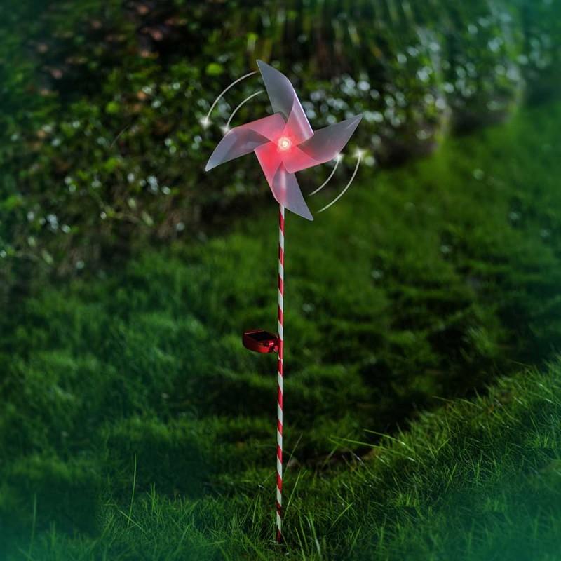 Moulin à vent lumineux - LED solaire