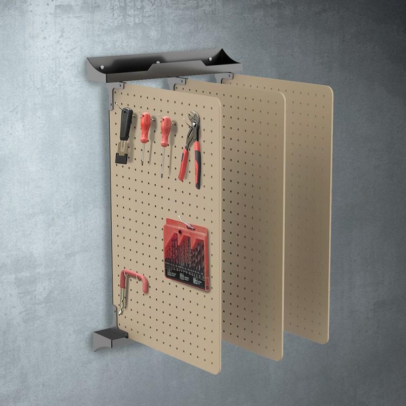 Panneaux muraux perforés rabattables pour outils x3 (4)
