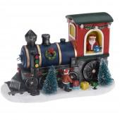 Village de Noël à pile - Locomotive du Père Noël