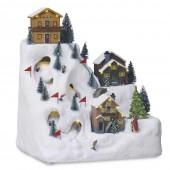 Village de Noël lumineux - montagne et station de ski