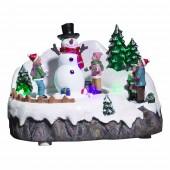 Village de Noël bonhomme de neige