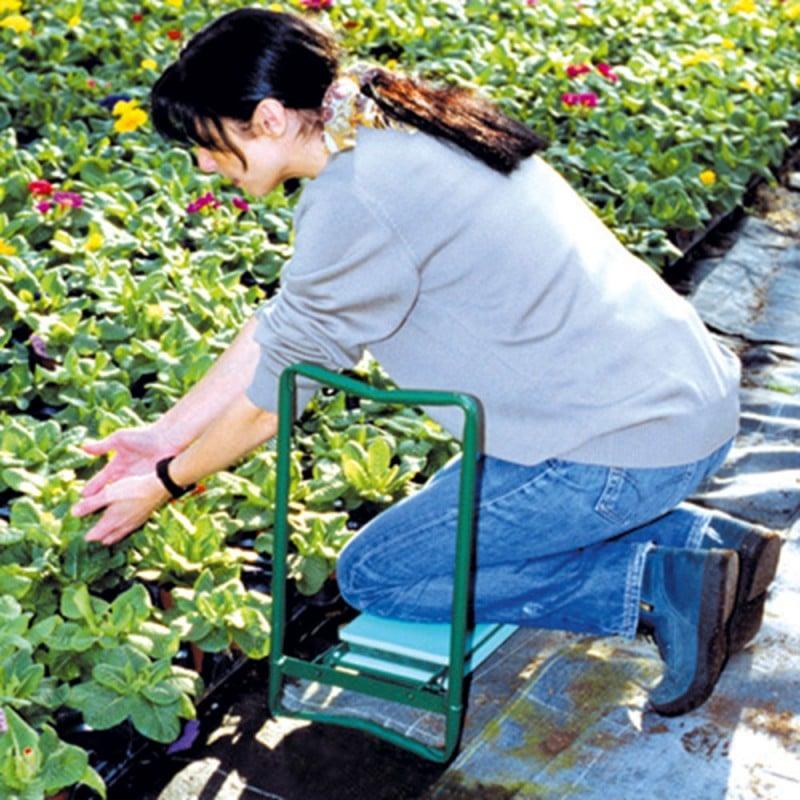 Tabouret agenouilloir de jardin pliable (8)