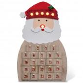 Calendrier de l'Avent lumineux en bois à remplir - Père Noël