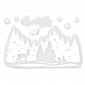 Sticker vitre Noël - Joyeuses Fêtes