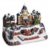 Village de Noël lumineux - ville et gare