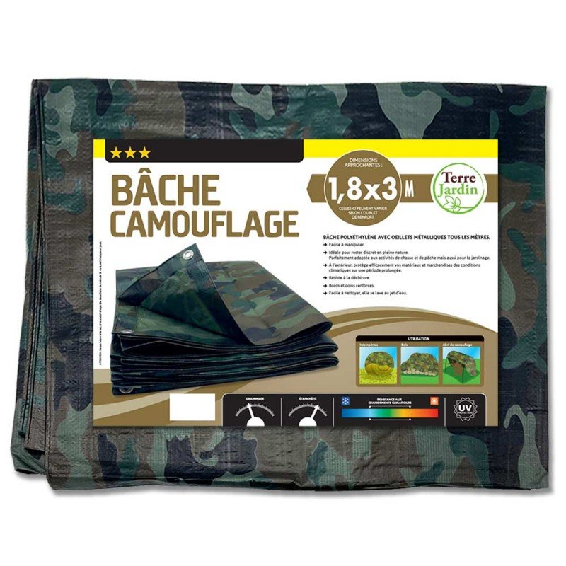 Bâche camouflage militaire 130g m2 (4)