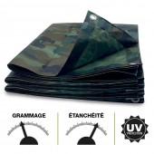 Bâche camouflage militaire 130g m2 (1)
