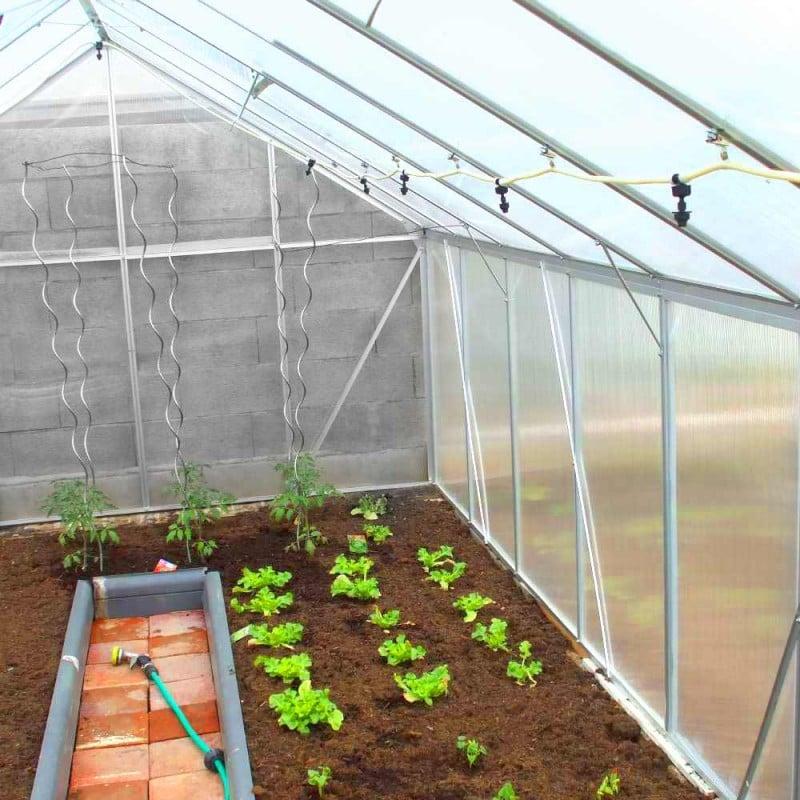 Serre de jardin polycarbonate et aluminium 12m2 (6)