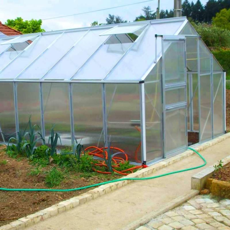 Serre de jardin polycarbonate et aluminium 12m2 (7)