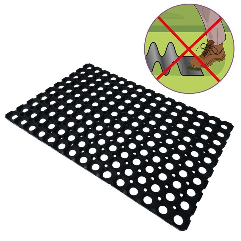 2 tapis caillebotis caoutchouc + connecteurs (3)
