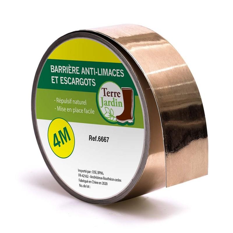 Bande de cuivre adhésif anti limaces et escargots (1)