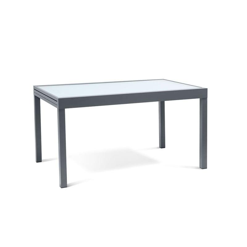 Table de jardin extensible en verre trempé (2)