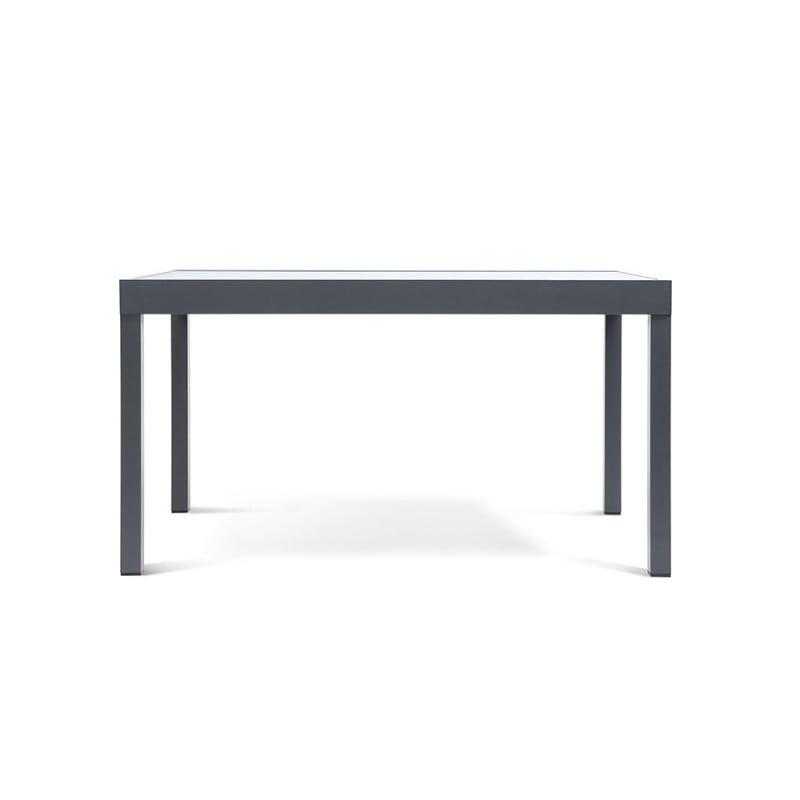 Table de jardin extensible en verre trempé (3)