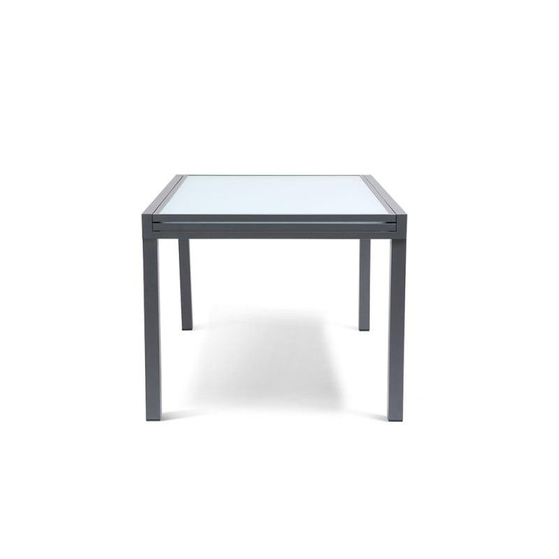 Table de jardin extensible en verre trempé (4)
