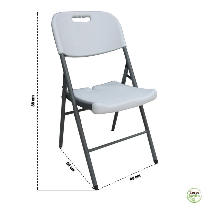 Chaise de jardin pliante en plastique (2)