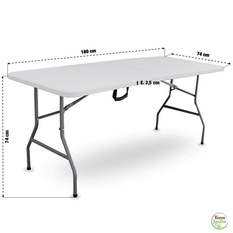 Table de jardin pliante 8 personnes 180cm (3)