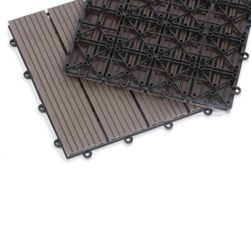Dalle terrasse composite effet bois - Lot de 5 (6)
