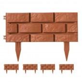 Bordures de jardin imitation brique - Vendu par 4