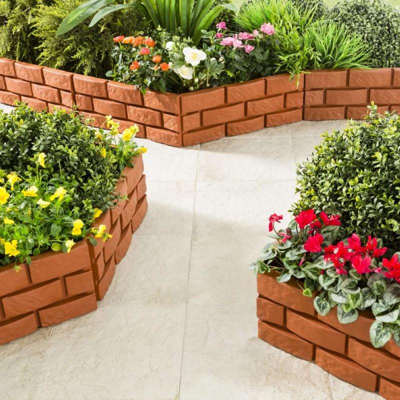 Bordures de jardin imitation brique - Vendu par 4 (1)