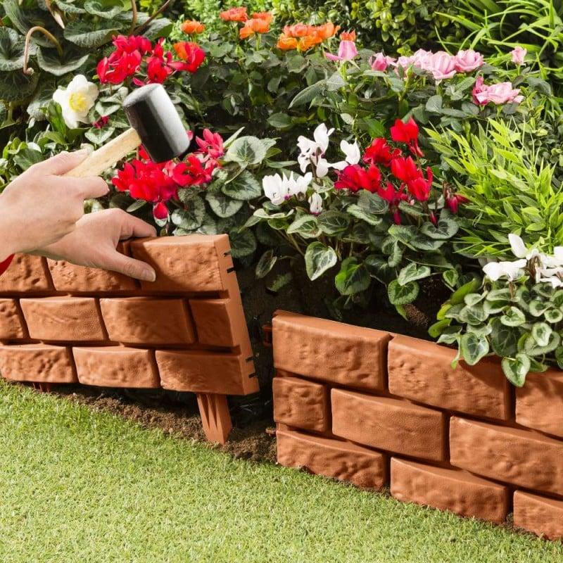 Bordures de jardin imitation brique - Vendu par 4 (2)