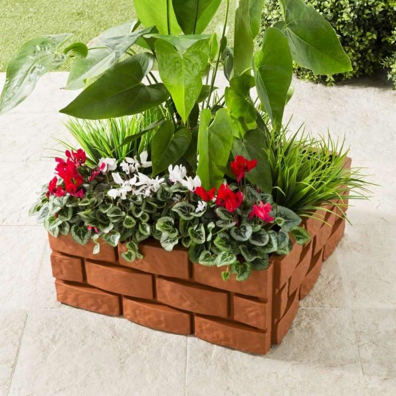 Bordures de jardin imitation brique - Vendu par 4 (3)