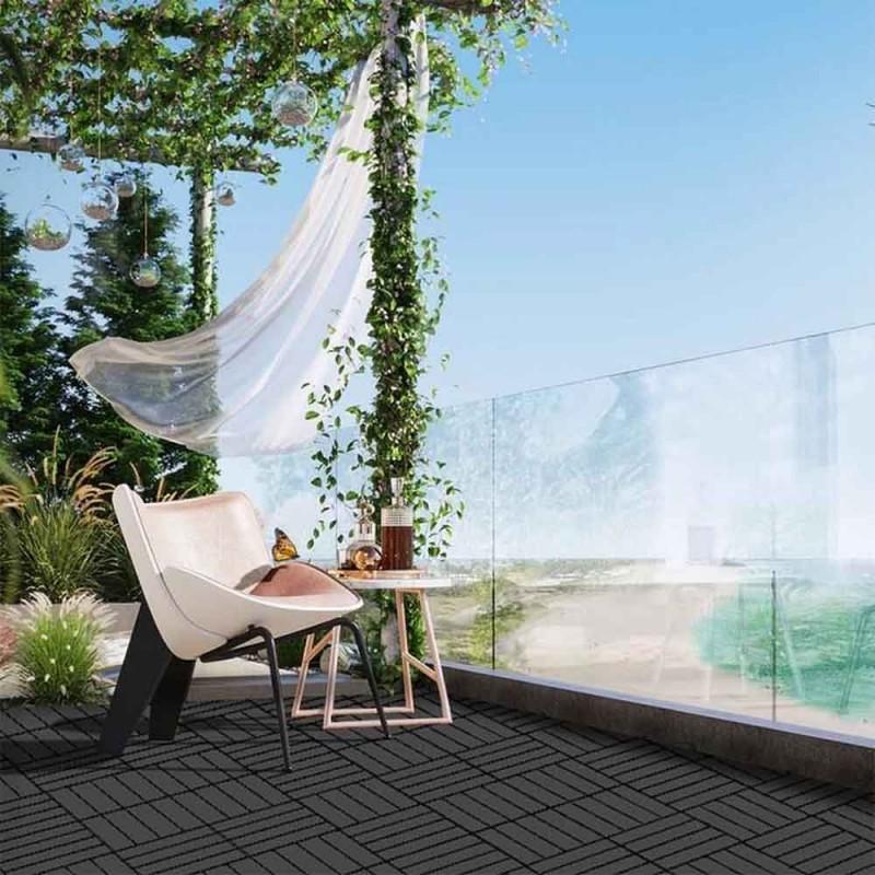 Dalle terrasse clipsable gris foncé - x 4 (6)