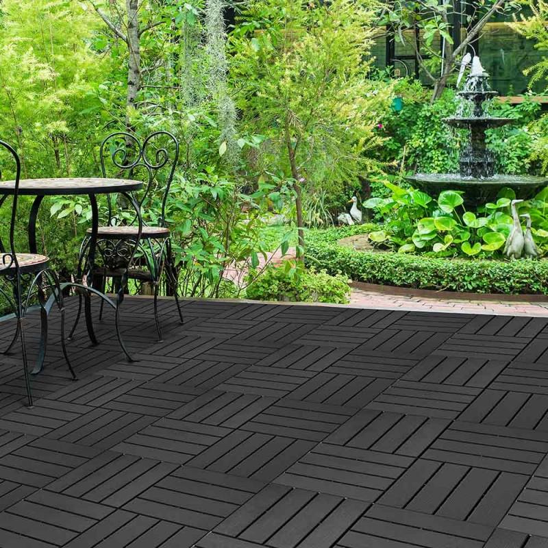 Dalle terrasse clipsable gris foncé - x 4 (7)