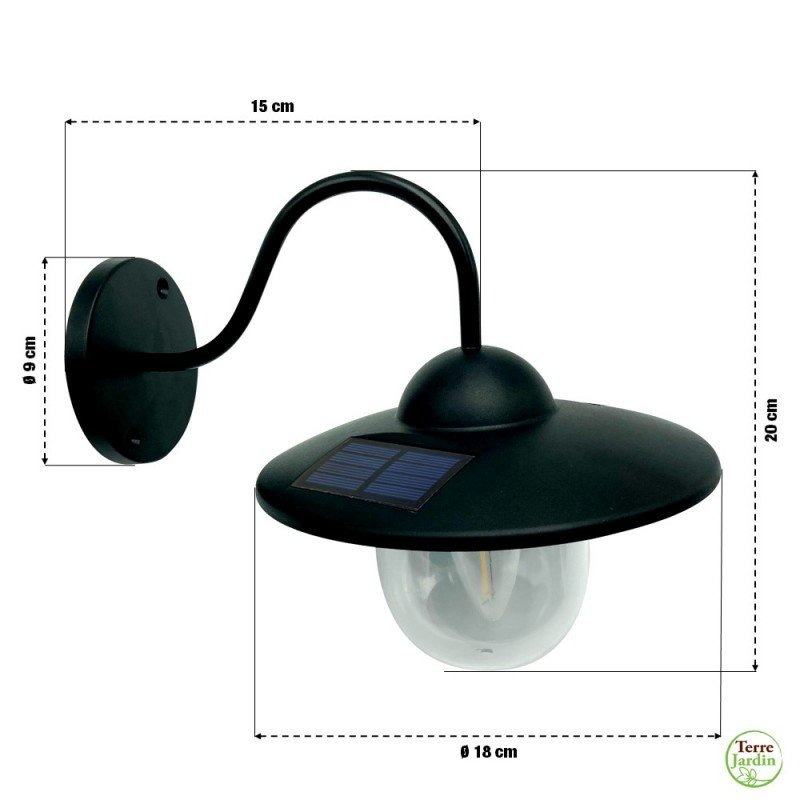 Applique extérieure vintage avec capteur solaire (1)