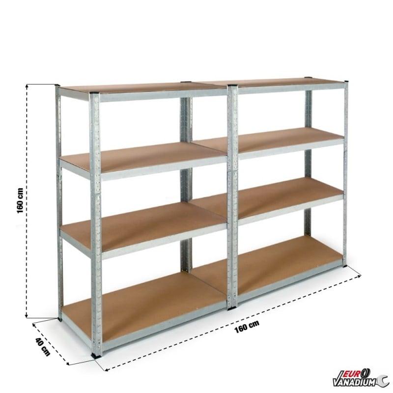 Double étagère charges lourdes en métal (1)
