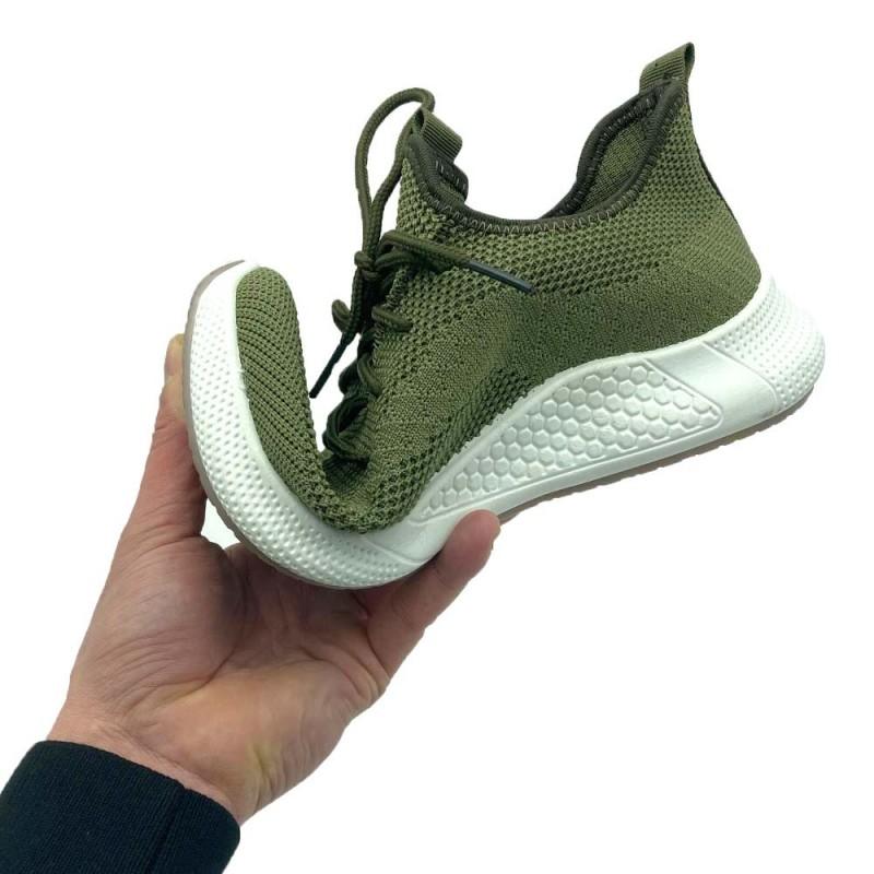 Baskets respirantes vertes (4)