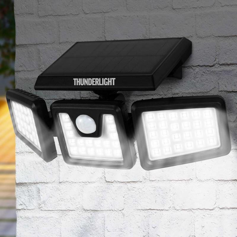 Projecteur mural solaire 3 têtes avec détecteur de mouvement (4)