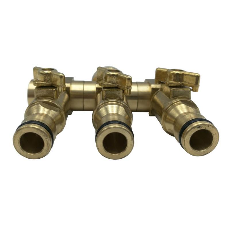 Raccord de tuyau d'arrosage 3 entrees (4)