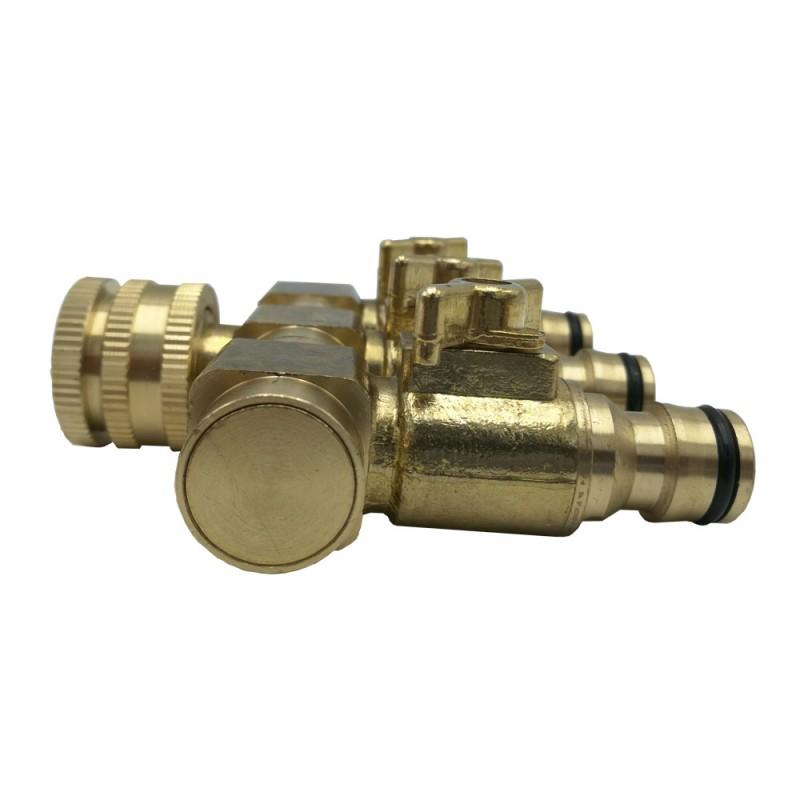 Raccord de tuyau d'arrosage 3 entrees (5)