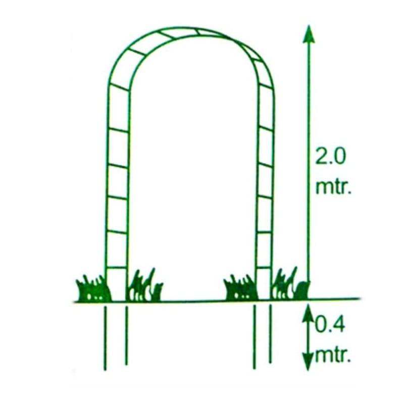 Arche de jardin pour plantes grimpantes (4)