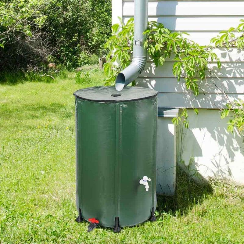 Réservoir récupérateur d'eau de pluie pliable (10)