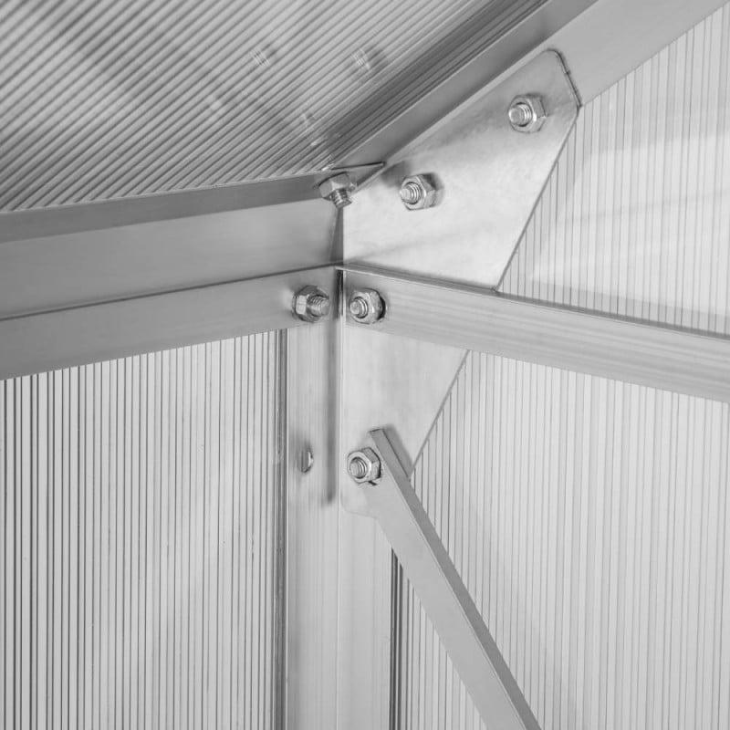 Serre de jardin polycarbonate et aluminium 12m2 (5)