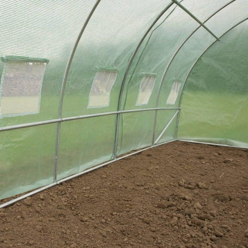 Serre de jardin tunnel 18m2 renforcée (3)