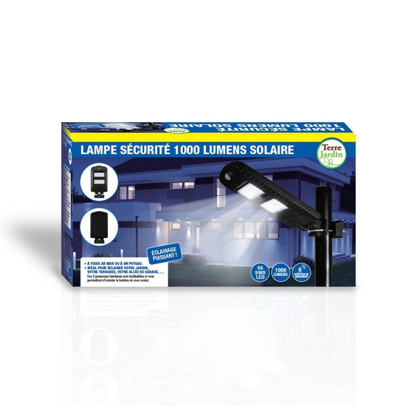 Lampadaire solaire de jardin - 1000 Lumens IP44 (2)