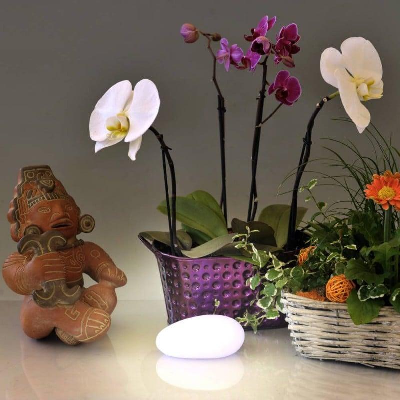 Galet décoratif lumineux : lampe galet ou veilleuse LED (2)
