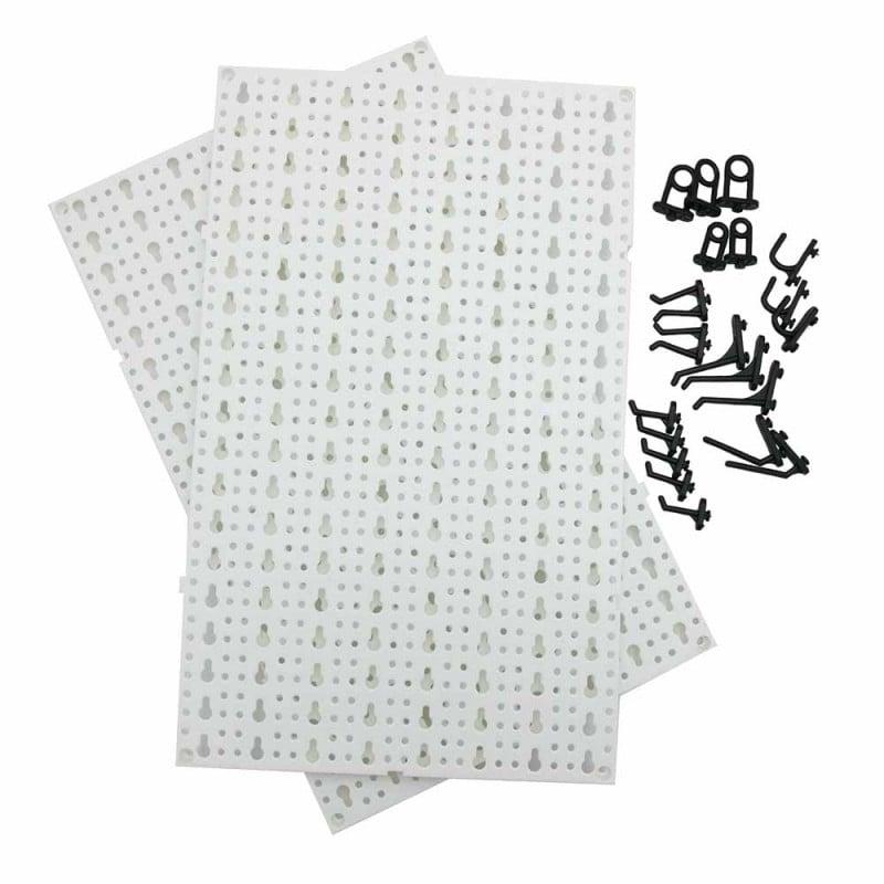 Panneaux muraux de rangement pour outils + crochets (1)