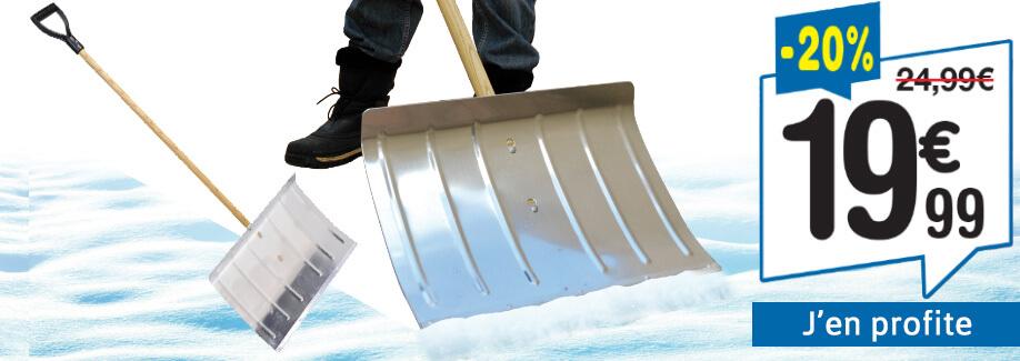 20% de remise : Pelle à neige en aluminium !