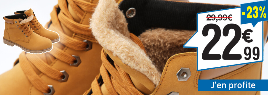 Chaussures fourrées à lacets Du 40 au 46