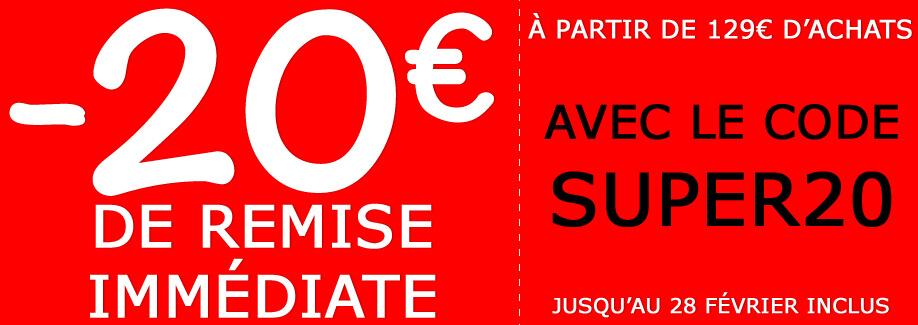 Jusqu'à 20€ de remise immédiate