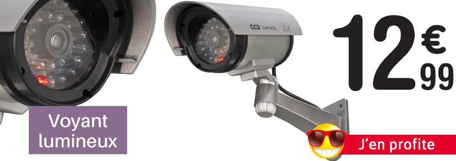 Effet dissuasif garanti : caméra de surveillance factice !